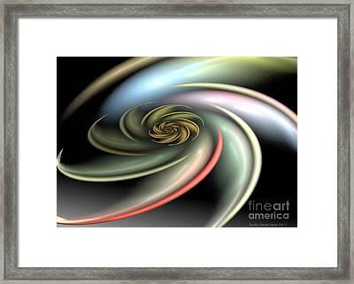 Rainbow Swirl Framed Print by Sandra Bauser Digital Art
