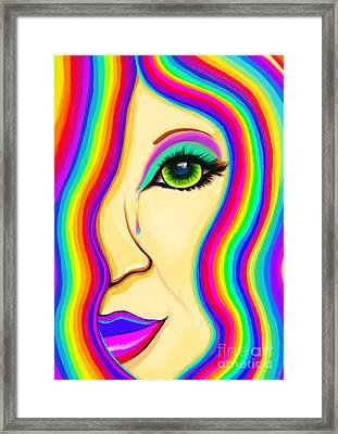 Rainbow Tear Mourning Framed Print by Nick Gustafson