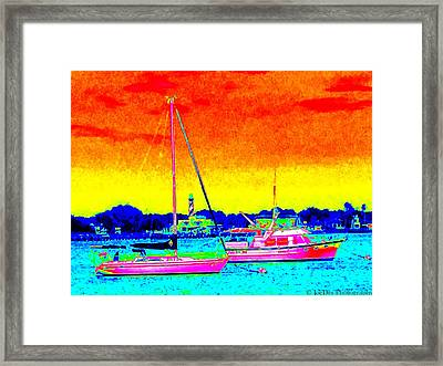 Rainbow Tide Framed Print