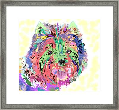 Rainbow Toto . Colorful Dog Framed Print