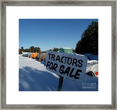 Rainbow Tractors Framed Print by The Stone Age
