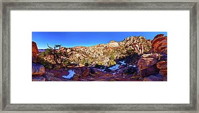 Rainbow Trail 1 Framed Print by ABeautifulSky Photography
