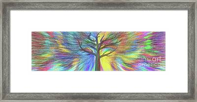 Framed Print featuring the digital art Rainbow Tree By Kaye Menner by Kaye Menner