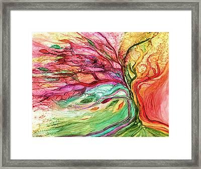 Rainbow Tree Framed Print by Carol Cavalaris