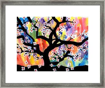 Rainbow Tree Framed Print