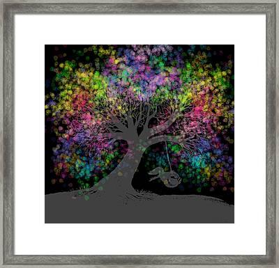 Rainbow Tree Dreams After Dark  Framed Print by Nick Gustafson
