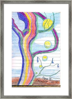 Rainbow Tree Revisited Framed Print by Rod Ismay