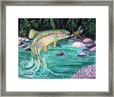 Rainbow Trout Framed Print by Bette Gray
