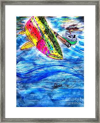 Rainbow Trout Fly Fishing Framed Print