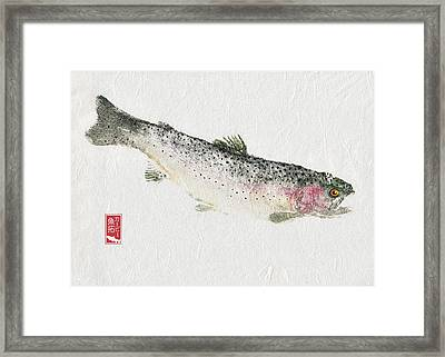 Rainbow Trout #rt0003 Framed Print