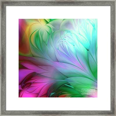 Rainbow Tulips Framed Print by Mindy Sommers