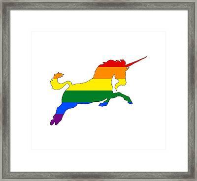 Rainbow Unicorn Framed Print by Mordax Furittus
