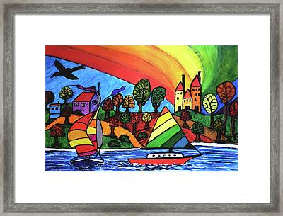 Rainbow Valley Framed Print by Monica Engeler