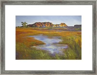 Rainbow Valley Northern Territory Australia Framed Print by Chris Hobel
