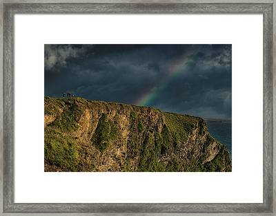 Rainbow View Framed Print by Martin Newman
