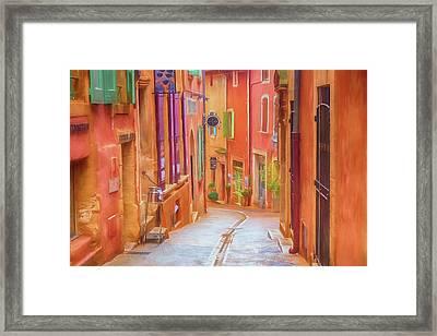 Rainbow Village Framed Print by Cheryl Ramalho