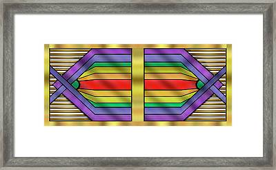 Framed Print featuring the digital art Rainbow Wall Hanging Horizontal by Chuck Staley
