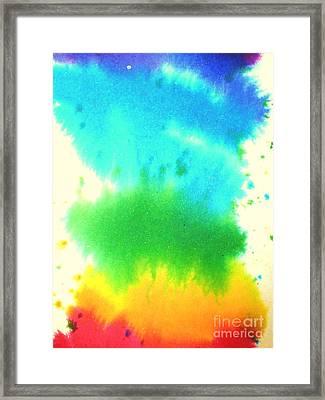 Rainbow Wash Framed Print by Chandelle Hazen