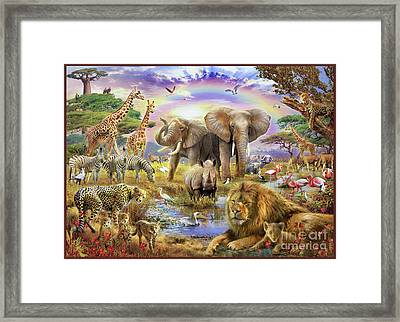 Rainbow Waterhole Framed Print