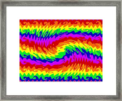 Rainbow Waves #855 Framed Print by Brian Gryphon