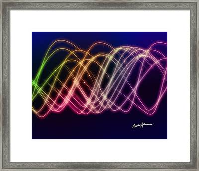 Rainbow Waves Framed Print by Anthony Caruso