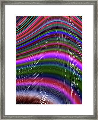 Rainbow Waves Framed Print