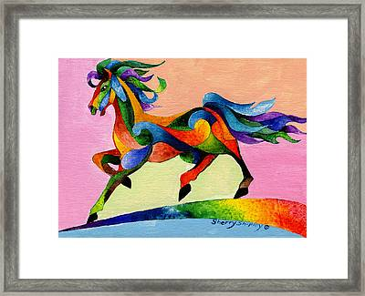 Rainbow Wind Framed Print