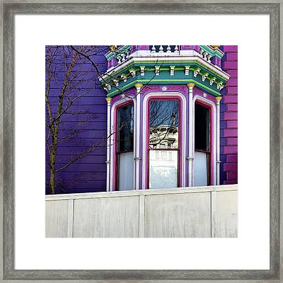 Rainbow Window Framed Print