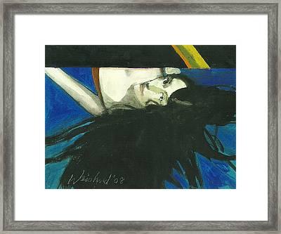 Rainbow  Woman Black Hair Framed Print by Harry  Weisburd