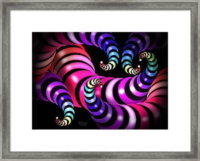 Rainbow Worms Framed Print