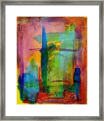 Rainbow Wreck Framed Print