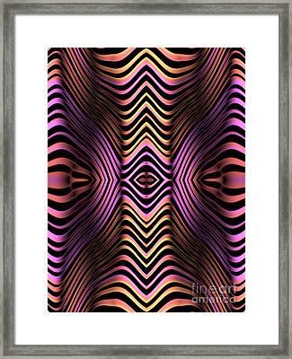 Rainbow Zebra Framed Print