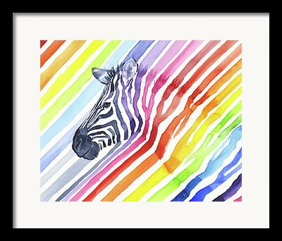 Zebra Patterns Framed Prints