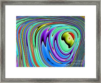 Rainbow In Abstract 02 Framed Print by John Edwards