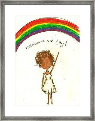 Rainbows Are Gay Framed Print by Ricky Sencion