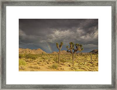 Rainbows Thunderstorms And Sunsets Framed Print