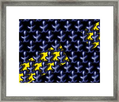 Raindance IIi - March Of The Blue People Framed Print