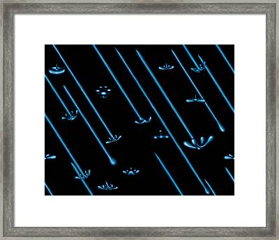 Raindance Iv - April Showers Framed Print