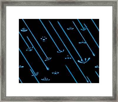 Raindance Iv - April Showers Framed Print