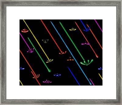 Raindance Iv - Chakra Shower Framed Print
