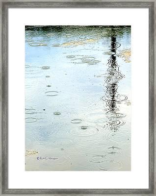 Raindrop Abstract Framed Print by Kae Cheatham