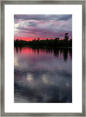 Raindrops At Sunset Framed Print by Mary Amerman