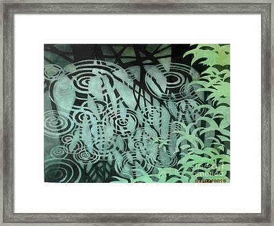 Raindrops-on-raindrops Framed Print by Anne Havard