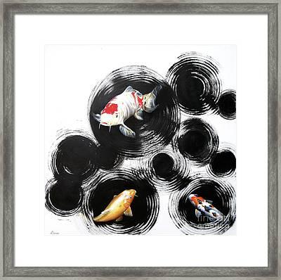 Raindrops Reveal 2 Framed Print by Sandi Baker