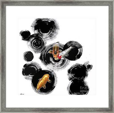 Raindrops Reveal 3 Framed Print by Sandi Baker