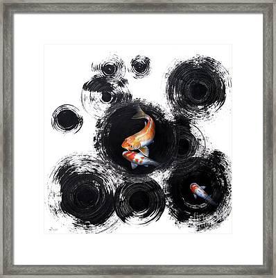 Raindrops Reveal Framed Print by Sandi Baker