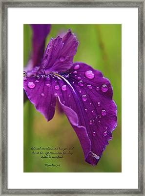 Raindrops Framed Print by Tyra  OBryant