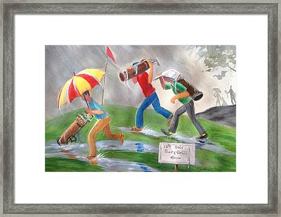 Rained Out Framed Print by Marilyn Jacobson