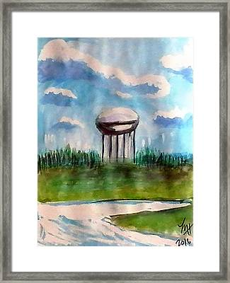 Raines Road Watertower Framed Print