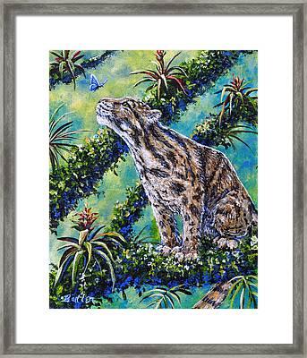Rainforest Encounter Framed Print by Gail Butler